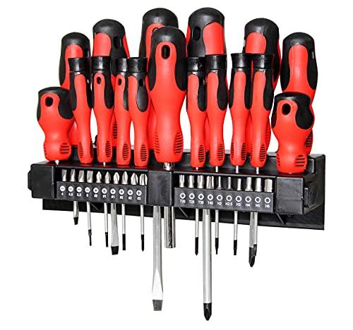 BOLTHO Set di 37 cacciaviti multipli – punte magnetiche, cacciaviti professionali di precisione per meccanici di precisione, inclusi cacciaviti a testa piatta, a croce e Torx