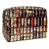 Bolsa de maquillaje de viaje grande bolsa de maquillaje organizador para mujeres y niñas lindo, Lata de cerveza de metal, 18.5x7.5x13cm/7.3x3x5.1in,