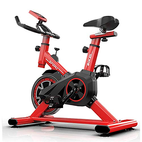 Bicicleta EstáTica Spinning Con Disco Inercia 7Kg De Frecuencia CardíAca, Bicicleta EstáTica EstáTica, Pantalla Lcd, Sensores De Pulso Muy Silenciosos, Bicicleta De Spinning / Fitness Para El Hogar