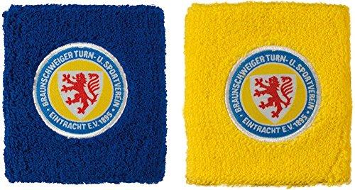 Schweißband 2 er Set Eintracht Braunschweig - 8 x 9 cm + gratis Aufkleber, Flaggenfritze®