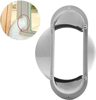 13 cm/5 pulgadas portátil aire acondicionado tubo de escape boca plana brida soporte de pared interfaz accesorios