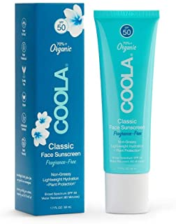 COOLA Organic Face Sunscreen & Sunblock Lotion, Skin Care for Daily Protection, Broad Spectrum SPF 50, Reef Safe