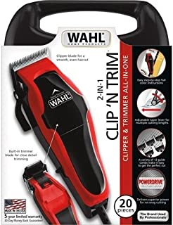 Wahl Clip'n Trim All-In-One Clipper & Trimmer 20 Piece Pro Hair-Cutting Kit