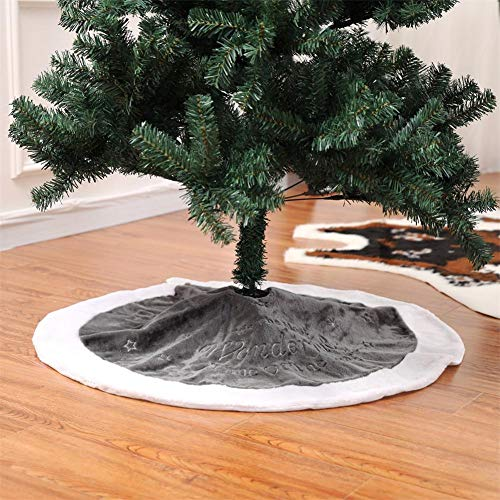 popchilli Cirkel Decoratie Kerstman Scene Sneeuwman Boom Rok, Kerst Boom Schort Rok Boom 90 cm Kerst Rok Boom Borduren Korte Pluche Decoratie Kerstmis Tapijt Scene Decoratie