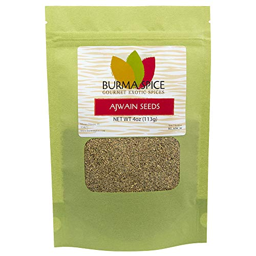 Ajwain Seeds, Whole | Trachyspermum copticum | Used in Indian and Middle Eastern Cuisine 4 oz.