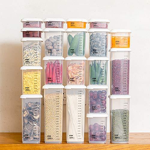 2200ml transparentes sellados latas Caja de almacenamiento de granos alimenticios más vigorosos Tanque de almacenamiento Electrodomésticos Cocina contenedores para cereales secos