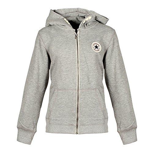 Converse Grau Hoodie Kinder Sweatshirt Kapuzenpullover, Größe Kleidung Kinder:L (152-158 cm)
