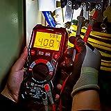 KAIWEETS HT118A Multimetro Digital Profesional, Polimetro Autorango con Valor Real 6000 Cuentas para Medir CA/CC Corriente y Tensión, NCV, Capacitancia, Continuidad, Resistencia, Batería, Diodo, Live
