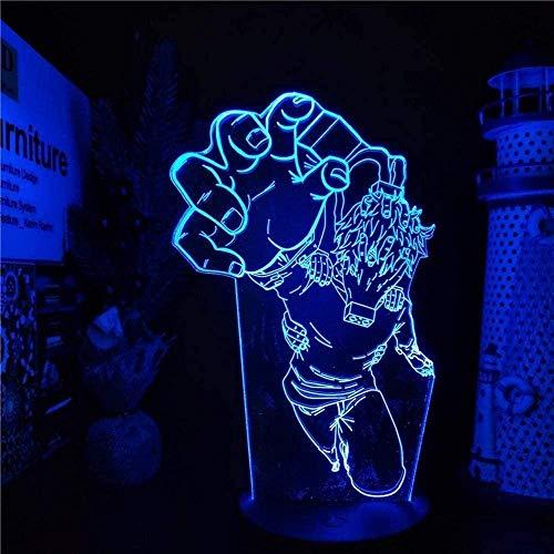 Box hero animation 3D luz nocturna luz LED 7/16 cambio de color control remoto táctil niños vacaciones cumpleaños regalo especial decoración del dormitorio