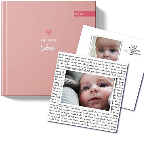 """Edles Babybuch I Babyalbum""""Polly"""" Dein kleines Leben von heaven+paper® I zeitlos, schlicht und elegant mit hochwertigem Hardcover quadratisch 21x21cm als Geschenk zur Geburt für Mädchen I"""