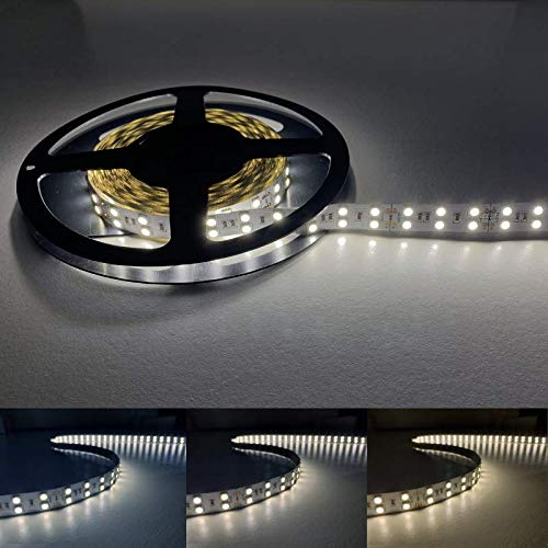 Ruban LED 5M 24V 5050 IP20 120LED/m - Blanc Chaud 2300K - 3500K - SILAMP