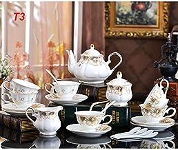 21 Piece European High Quality Tea Set Cup Teapot Saucer Porcelain Coffee Mug