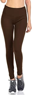 Signature Leggings Solid Brushed Yoga Waistband Full Length & Capri
