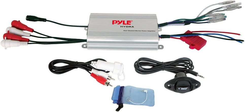 Amazon.com: Pyle Hydra Marine Amplifier - Upgraded Elite Series 400 Watt 4  Channel Micro Amplifier - Waterproof, GAIN Level Controls, RCA Stereo  Input, 3.5mm Jack, MP3 & Volume Control (PLMRMP3A): Car Electronics | Pyle Marine Radio Wiring Diagram |  | Amazon.com