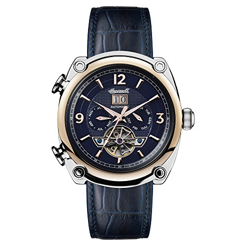 Ingersoll Men's The Michigan Automatic Watch with Blue Dial and Blue Leather Strap I01101