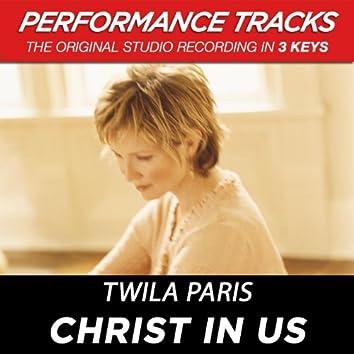 Christ In Us (Performance Tracks)