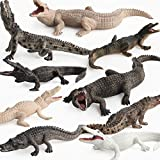Simulation Realistic Wild Life Jungle Animal Figures Model Figurines Crocodile Alligator Family Playset Eduactional Toys Party Playset Toys for 5 6 7 8 Years Boys Girls Toddler (9 pcs)