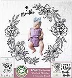 SWOOFE Baby Milestone Blanket   Organic Muslin Cotton   Weekly & Baby Monthly Milestone Blanket Photo   Floral Milestone Blanket for Baby Girl Shower Gifts