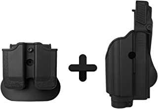 IMI Defense Z1600 Paddle Light / Laser Roto Holster + Double Magazine Pouch For Glock 17/19/22/23/25/31/32 Gen 4 Compatible