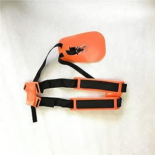 shiosheng Safety Orange Professional Double Shoulder Strap String Trimmer Brush Cutter Harness Belt Carry Hook Garden
