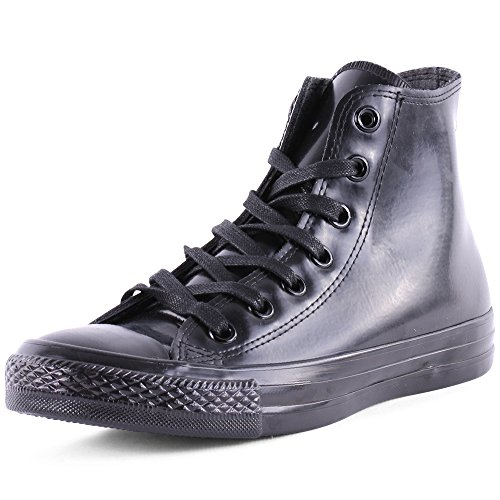 Converse All Star Schuhe für Herren mit hohem Schaft, gesteppt, schwarz, schwarz - Rubber Black - Größe: 40