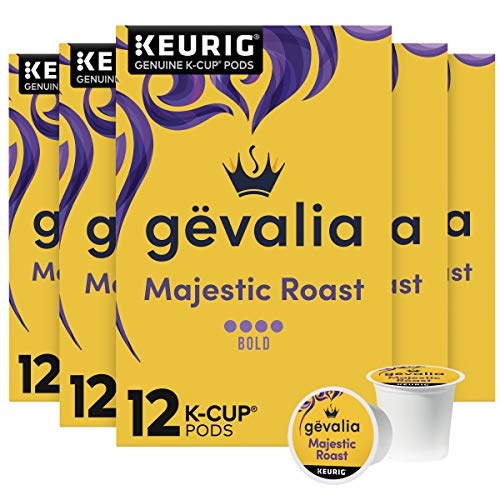 Gevalia Majestic Roast K-Cup Coffee Pods (72 Pods, 6 Packs of 12)