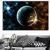 ganlanshu Pintura sin Marco HD Imprimir Espacio Paisaje Carteles y decoración para el hogar Impresiones Sala de Estar sofá póster fotosZGQ1814 30X45cm