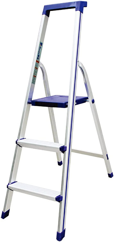 solo cómpralo WSWJJXB Escalera de de de Tres escaleras portátil de aleación de Aluminio para escaleras de Herramientas portátiles con rieles de Seguridad Taburete Plegable  Compra calidad 100% autentica