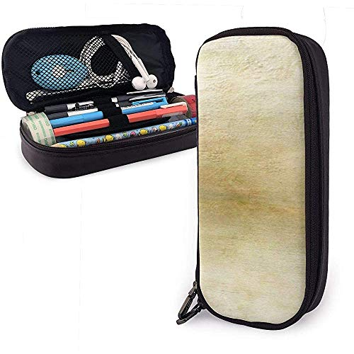 Federmäppchen Vintage Papier Texturen Farben PU Ledertasche Aufbewahrungstaschen Portable Pencil Bag Zipper Wallets