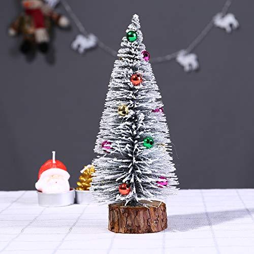 sunnymi Mini Vert Sapin de Noël Mini lumière Bureau Petit Arbre de Noël Traditionnel d'intérieur DIY Craft Décoration de Table, Résine, Green, 20 cm