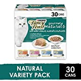 Purina Fancy Feast Natural Wet Cat Food Variety Pack, Gourmet Naturals Seafood Collection - (30) 3 oz. Cans
