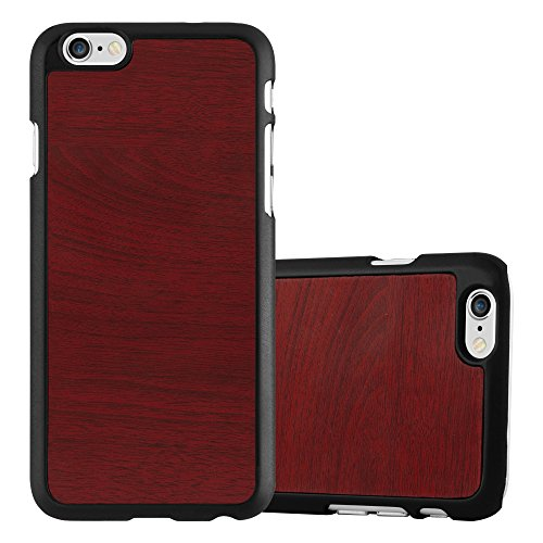 Preisvergleich Produktbild Cadorabo Hülle für Apple iPhone 6 Plus / iPhone 6S Plus - Hülle in Woody ROT Hardcase Handyhülle in Vintage Holz Optik - Schutzhülle Bumper Back Case Cover