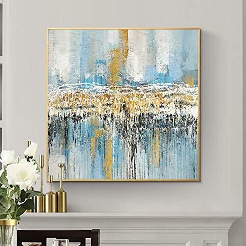 wZUN Pittura a Olio Astratta Immagine Artistica di Paesaggio colorato Decorazione Domestica Pittura Astratta su Tela 60x60 Senza Cornice