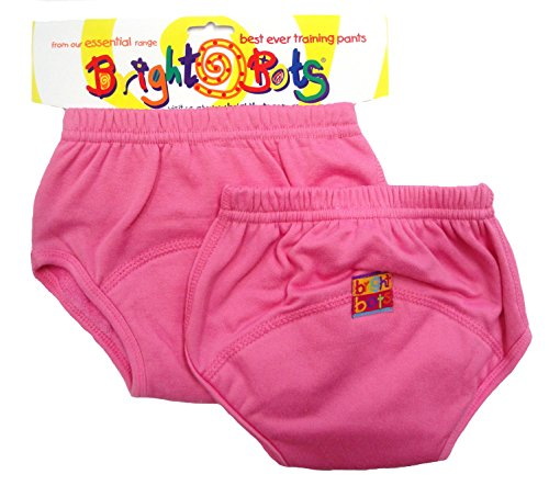 Bright Bots Bright Bots, Unterhose für Töpfchentraining (Doppelpack, Pink, Gr. L, 24-30 Monate)