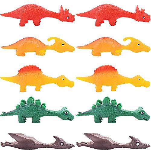 REYOK Dinosaurios Flexibles voladores (Pack de 10) Bolsas Sorpresa o como Idea de Regalo Infantil