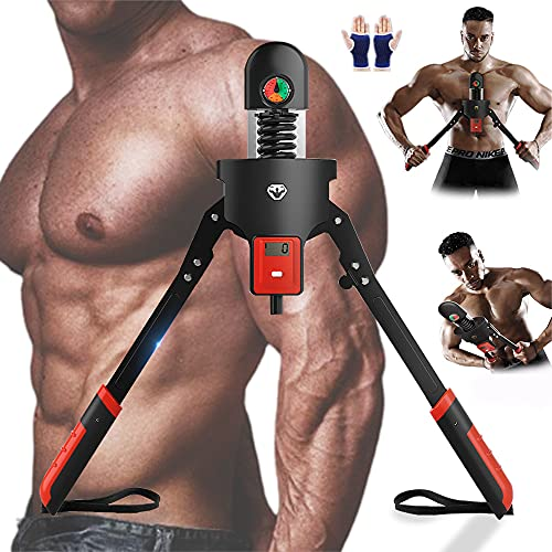 SAIYEN Smart Arm Exercise Power Twister Equipment,Chest Expander,Display Alories Burned,Adjustable Resistance 22-440 lbs,LCD Count,Exercise Chest Muscles,Arms,Back,Shoulder,Home Gym Fitness Equipment