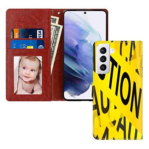 UZEUZA Funda para Samsung Galaxy S21 Premium PU cuero magnético bolsillo caso Kickstand tarjeta titular ranuras con subasta