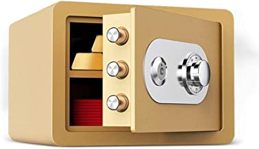 HTTBXG Safes Mechanical Password Deposit Box, Wardrobe 25cm with Key Mini Invisible Bedside Code Safes Office All-Steel An...