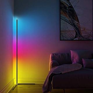 SXFuture LED Lampadaire Salon avec RGB Et Télécommande, Aluminium Moderne Lampadaire sur Pied Luminosité Réglable Chambre ...