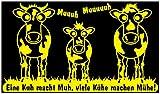 Samunshi® Wandtattoo 'Eine Kuh Macht MUH, viele Kühe