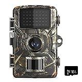 12MP 1080P Cámara de caza y caza de vida silvestre con cámara de seguridad activada por movimiento con tarjeta TF de 16GB / 32GB Cámara de exploración de caza con visión nocturna infrarroja impermeab