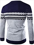 OnIn Fashion Men's Casual Pullover Crewneck Slim Knitted Ribbed Sweaters Navy BlueX-Small