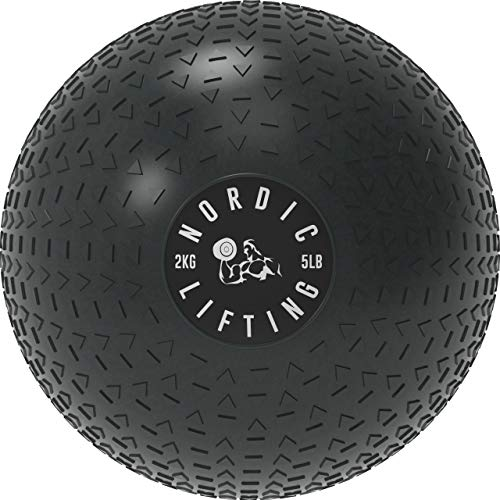 Dead Weight Slam Ball for Crossfit  Textured Slamball for Core amp Fitness Training by Nordic Lifting  5 lb