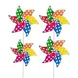 Modou (4 Unidades molinillos de Viento de Colores como Regalo para niños para...