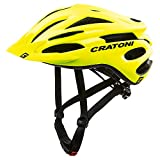 Cratoni - Casco Pacer MTB Amarillo neón Mate, Talla S/M 54-59 Material de Bicicleta, Unisex - Adulto