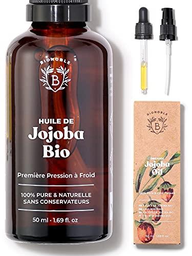 HUILE DE JOJOBA BIO | 100% Pure, Naturelle &...