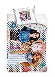 Barbie Parure de lit en coton 160 x 200 cm + 70 x 80 cm