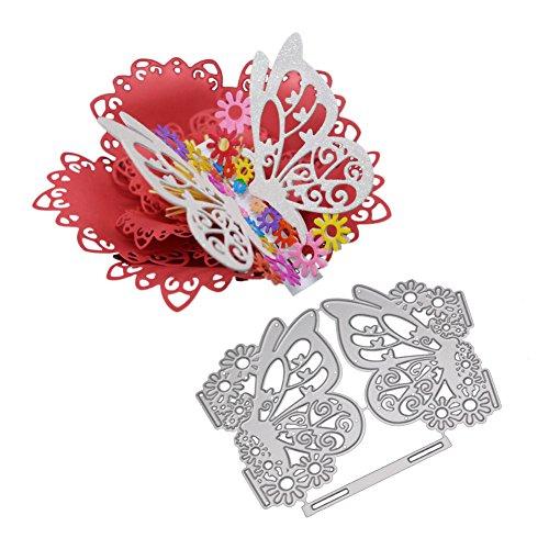 Lazzboy Fustelle Natale Scrapbooking Metallo Stencil Paper Card Craft per Sizzix Big Shot/Altre Macchine (Farfalla)