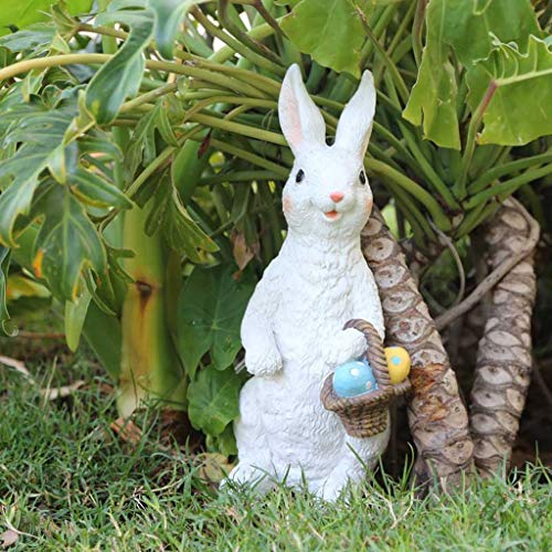 NYKK Ornamento de Escritorio Decoración de la Resina de Conejo Muy Detallada...