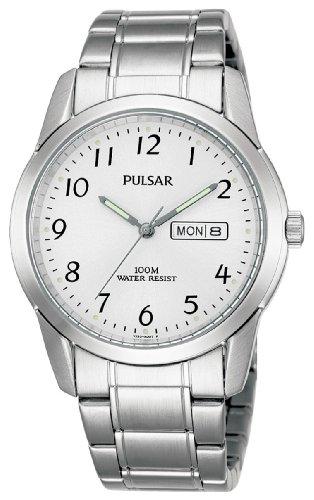Pulsar Quarz Herren-Uhr Edelstahl mit Metallband PJ6025X1